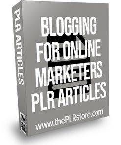 Blogging for Online Marketers PLR Articles