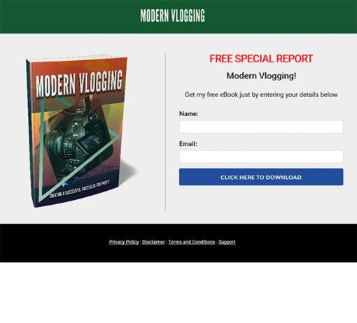 Modern Vlogging Success Ebook and Videos MRR