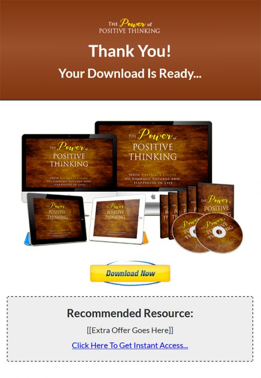 Power of Positive Thinking Ebook and Videos MRR