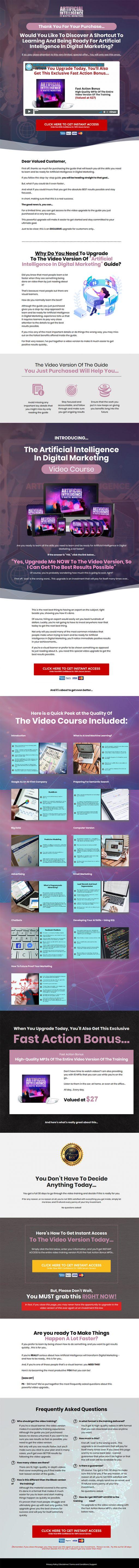 Artificial Intelligence in Digital Marketing Ebook and Videos MRR