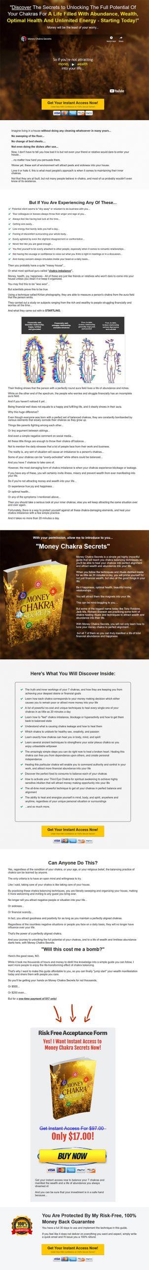 Money Chakra Secrets Ebook and Videos MRR