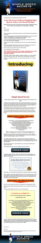 Running - Simple Speed Secrets Ebook and Videos MRR