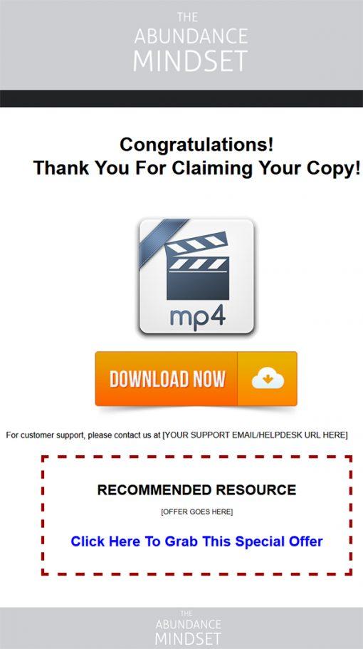 Abundance Mindset Ebook and Videos MRR