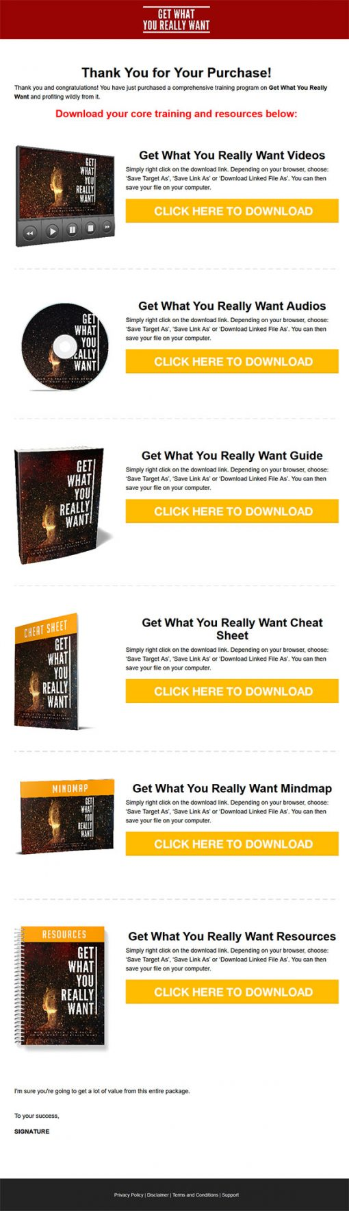 Get What You Really Want Ebook and Videos MRR