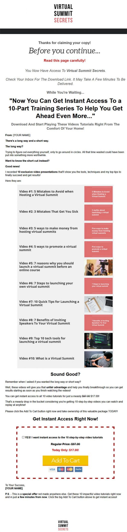 Virtual Summit Secrets Ebook and Videos MRR