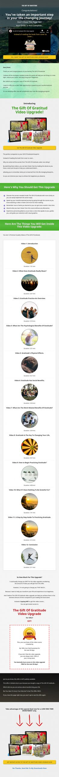 Gift of Gratitude Ebook and Videos MRR