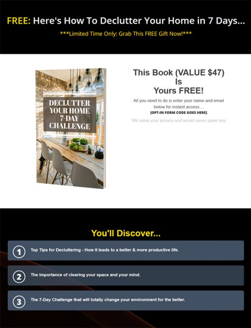 The Organized Life Ebook and Videos MRR