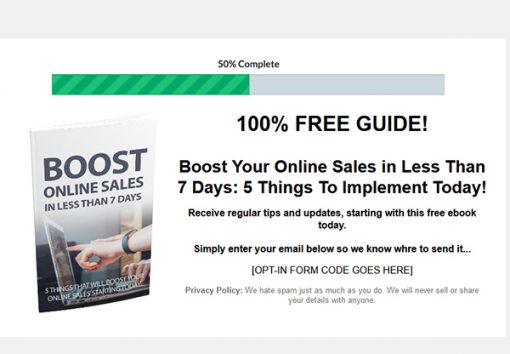Boost Your Online Sales Ebook and Videos MRR