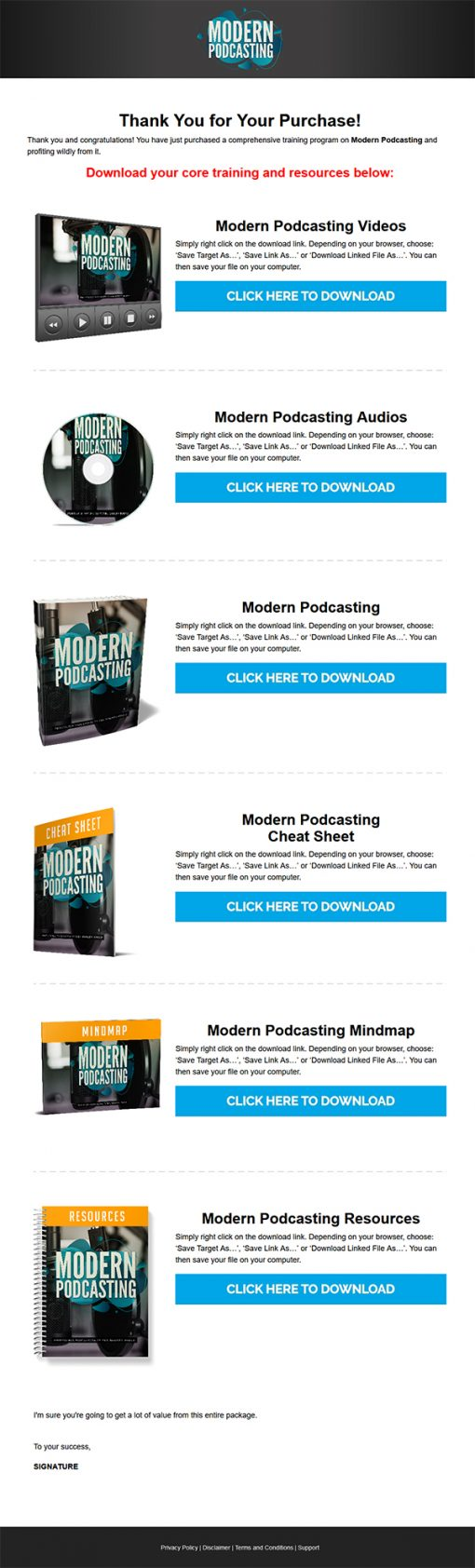 Modern Podcasting Ebook and Videos MRR