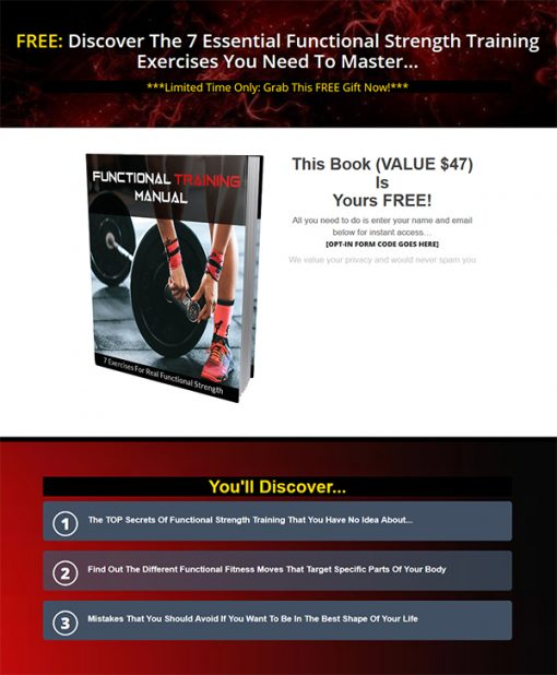 Functional Strength Training Manual Ebook MRR