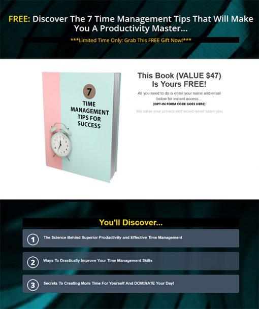7 Time Management Tips Report MRR