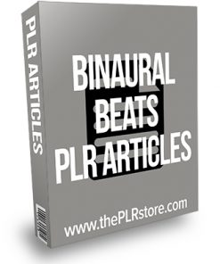 Binaural Beats PLR Articles