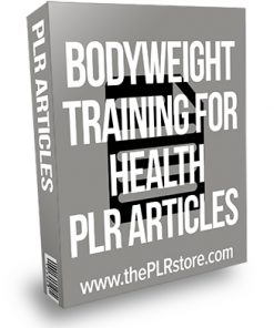 Bodyweight Training for Health PLR Articles