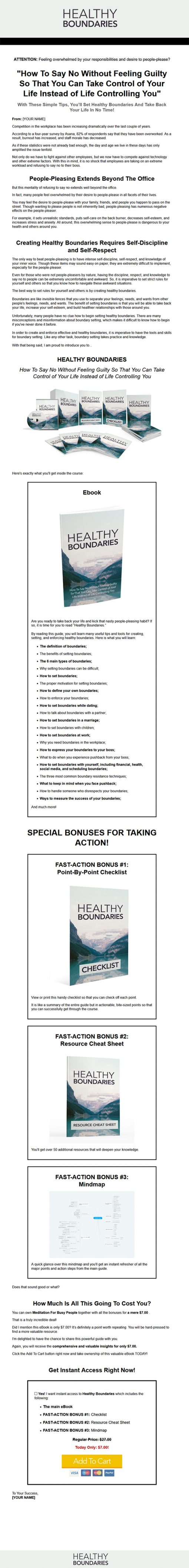 Healthy Boundaries in Life Ebook and Videos MRR