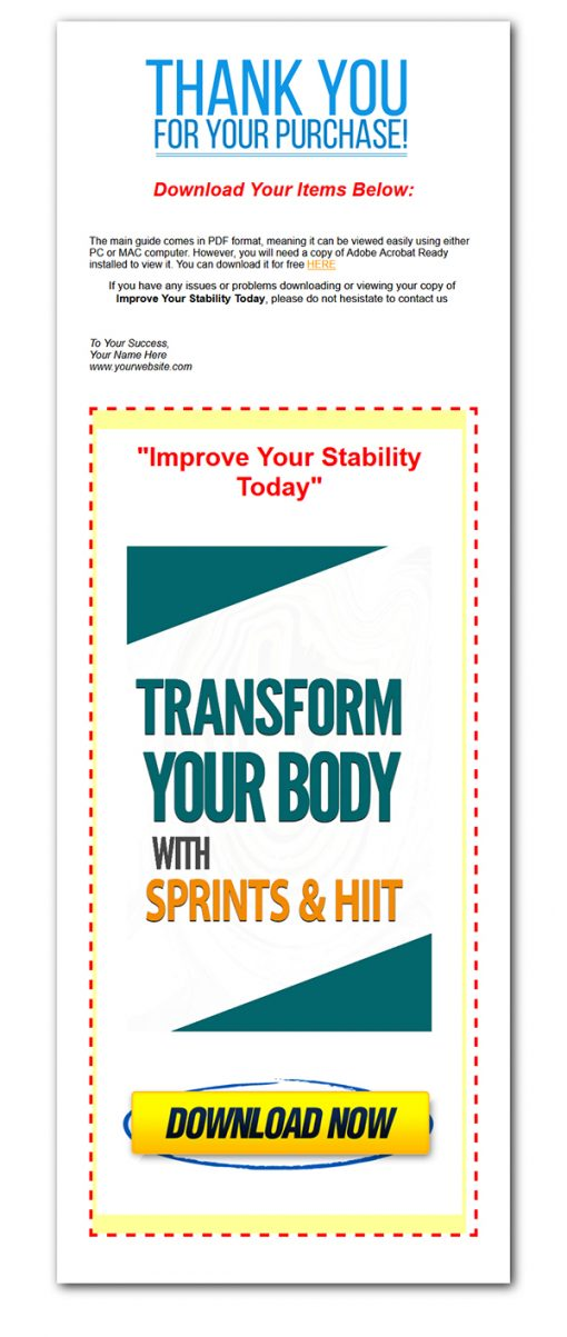 Transform Your Body with Sprints Ebook MRR