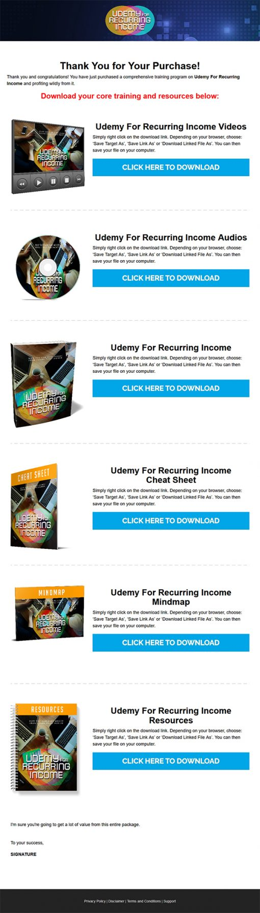 Udemy for Recurring Income Ebook and Videos MRR