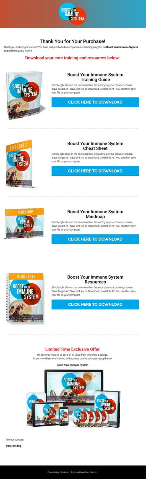 Boost Your Immune System Ebook and Videos MRR