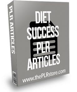 Diet Success PLR Articles