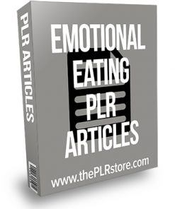 Emotional Eating PLR Articles