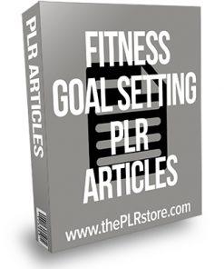Fitness Goal Setting PLR Articles