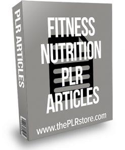 Fitness Nutrition PLR Articles