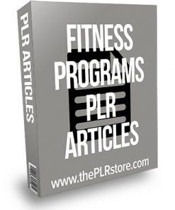 Fitness Programs PLR Articles