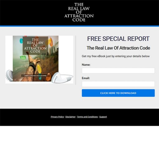 Real Law of Attraction Code Report MRR
