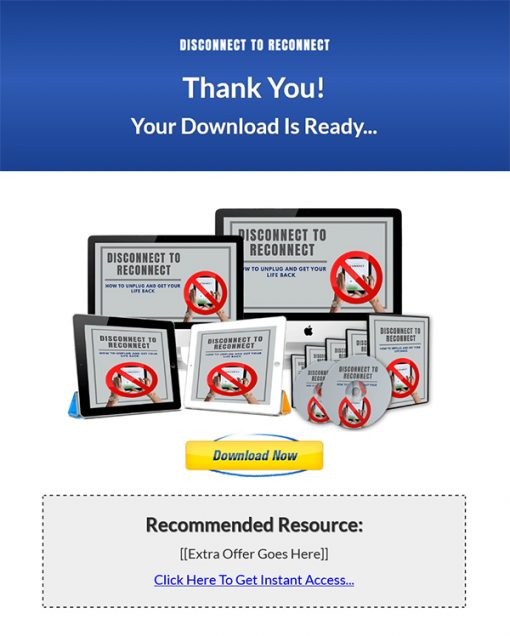Disconnect to Reconnect Ebook and Videos MRR
