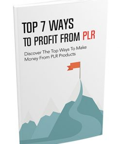 Top 7 Ways to Profit from PLR Ebook MRR