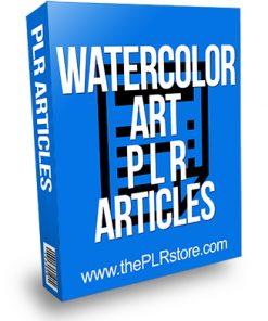 Watercolor Art PLR Articles