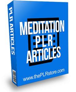 Meditation PLR Articles
