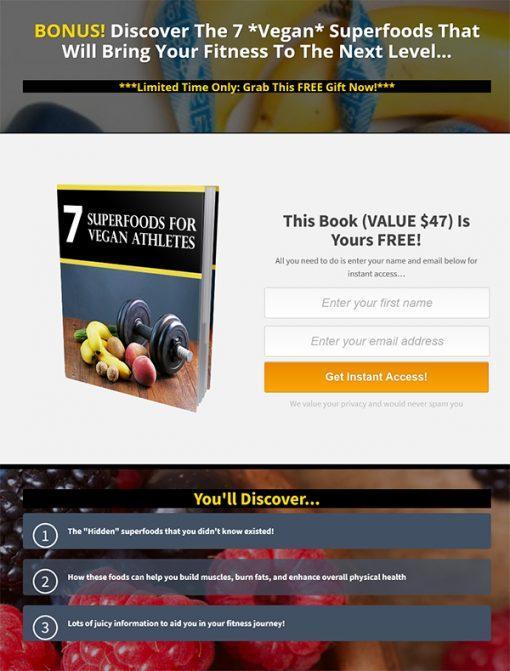 7 Foods for Vegan Athletes Ebook MRR