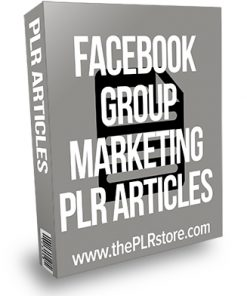 Facebook Group Marketing PLR Articles