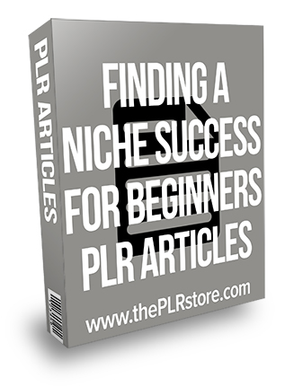 Finding a Niche Success for Beginners PLR Articles