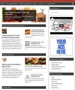 Healthy Eating PLR Website