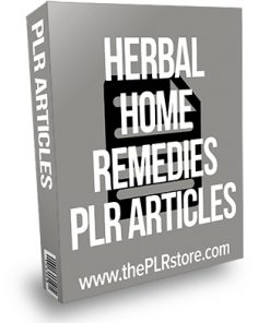 Herbal Home Remedies PLR Articles