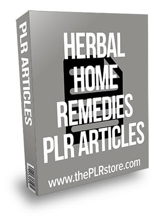 Herbal Home Remedies PLR Articles