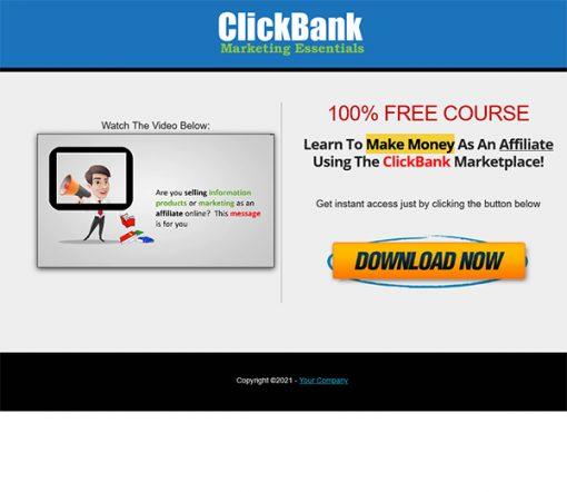 Clickbank Marketing Essentials Lead Generation MRR