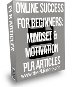 Online Success for Beginners: Mindset and Motivation PLR Articles