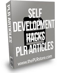 Self Development Hacks PLR Articles