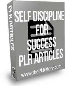 Self Discipline for Success PLR Articles