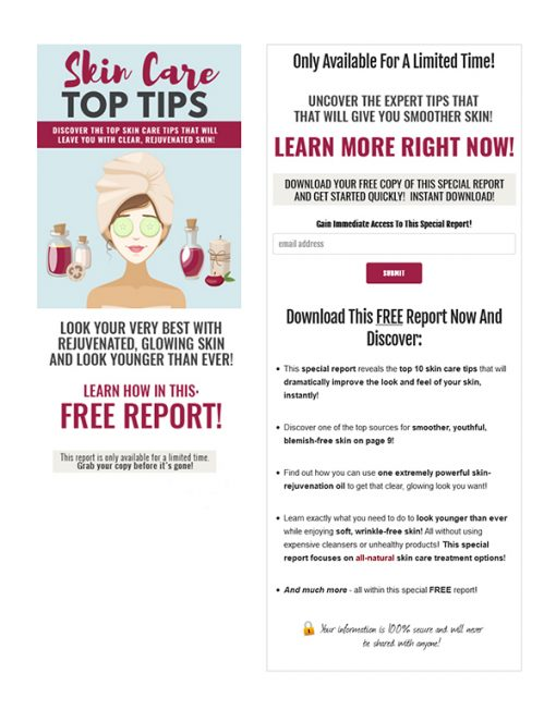 Skin Care Top Tips PLR Ebook