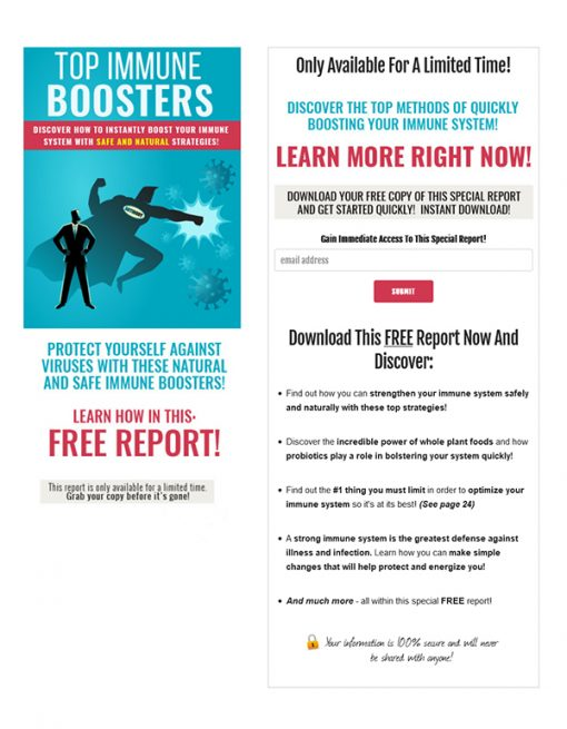 Top Immune Boosters PLR Ebook