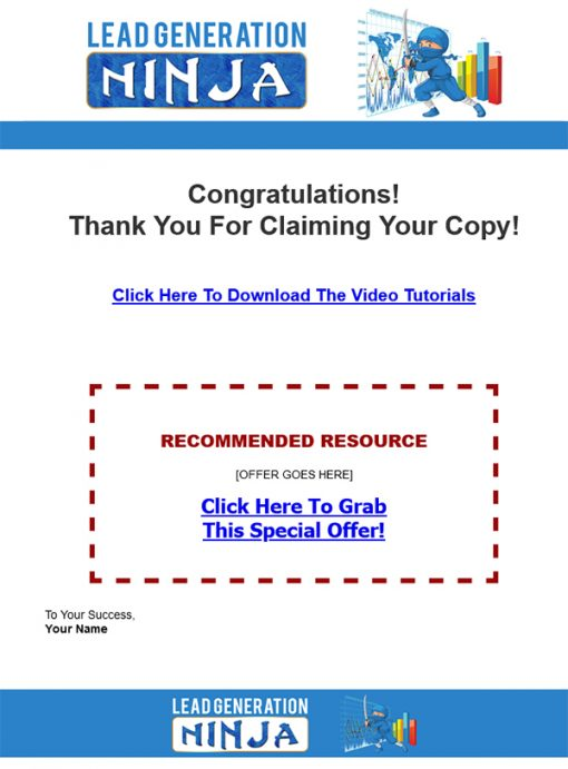 Lead Generation Ninja Ebook and Videos MRR