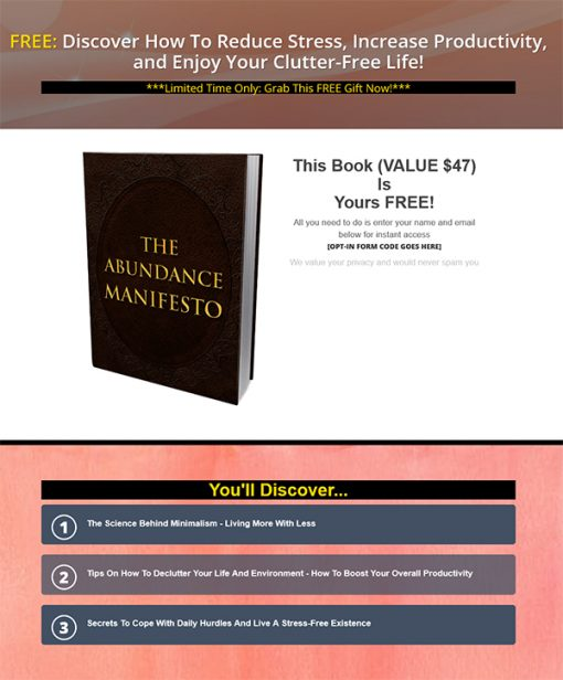 Abundance Manifesto Ebook MRR