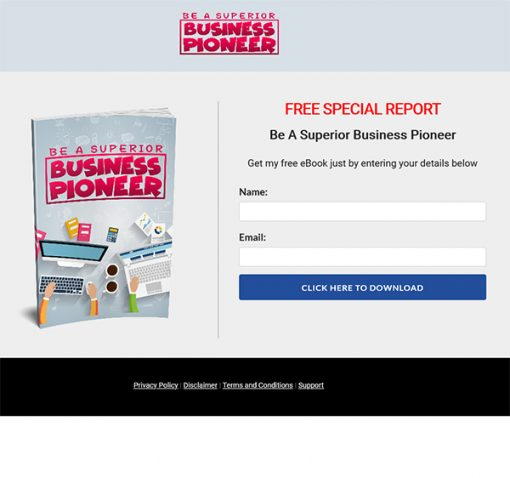 Be a Superior Business Pioneer Ebook MRR
