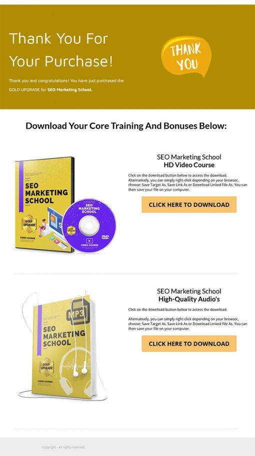 SEO Marketing School Ebook and Videos MRR