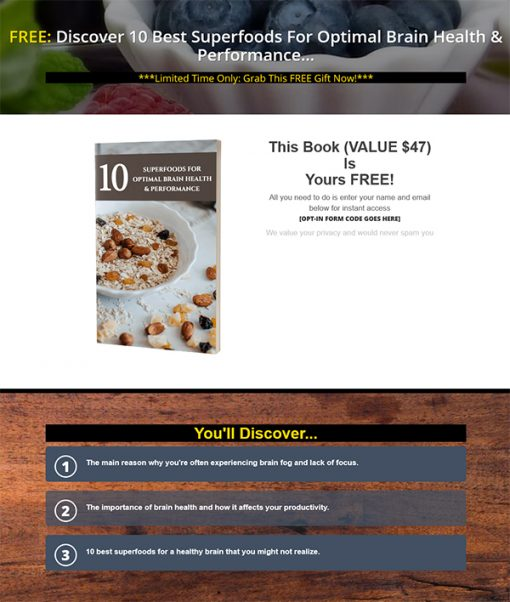 Superior Brain Health Ebook and Videos MRR