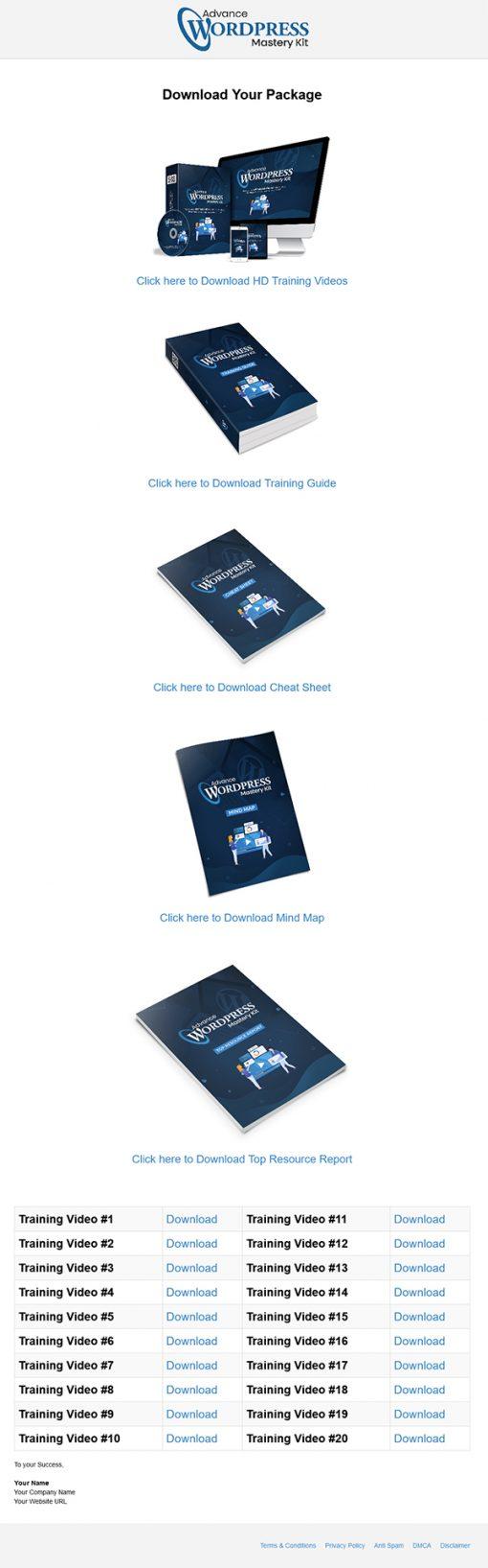 Advance Wordpress Mastery Kit PLR Ebook and PLR Videos Package
