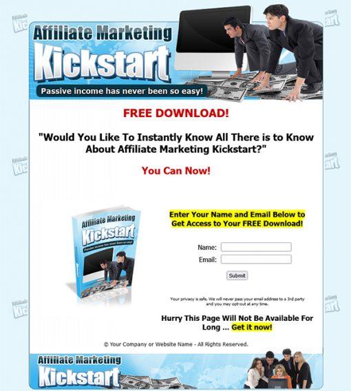 Affiliate Marketing Kickstart Ebook MRR
